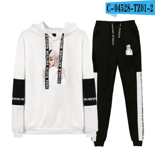 Ariana Grande Sweatshirt and Jogger Pants 2 Pieces Set Unisex Sweatsuit