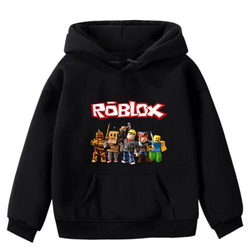Roblox Kids Warm Hoodie Winter Fall Hooded Sweatshirt Long Sleeve Tops