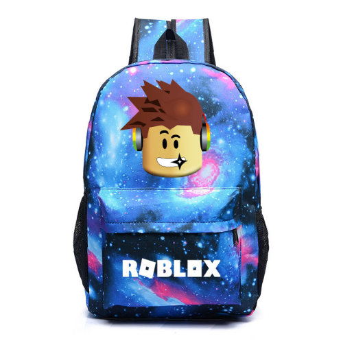 Roblox Galaxy Color Backpack School Students Backpack Unisex Girls Boys Bookbag