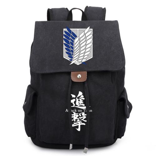 Anime Attack On Titan Trendy Canvas Backpack Bookbag Travel Backpack