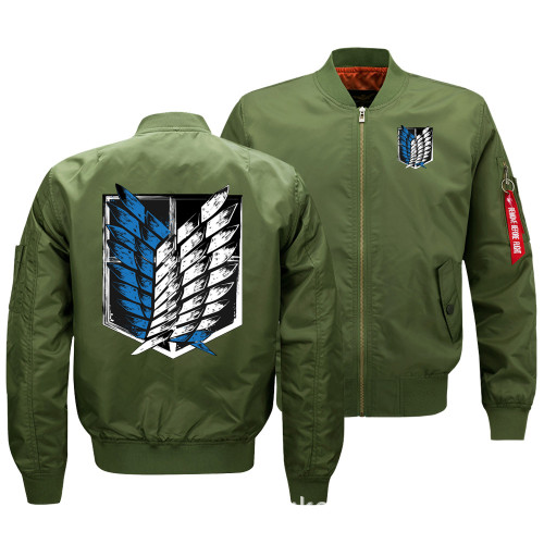 Anime Attack On Titan Youth Adults Cool Bomber jacket Coat Zip Up Trendy Outfit