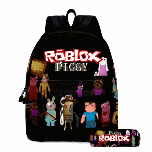 Roblox Kids Youth 3-D Backpack With Pencil Bag Set Unisex Stundents Backpack Bookbag