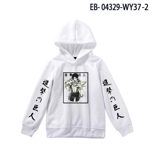 Anime Attack On Titan Kids Hoodie Long Sleeve Winter Fall Casual Pullover Sweatshirt