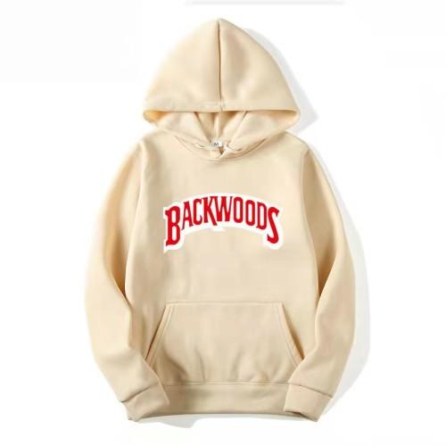 Backwoods Print Hoodie Long Sleeves Trendy Unisex Hoodie