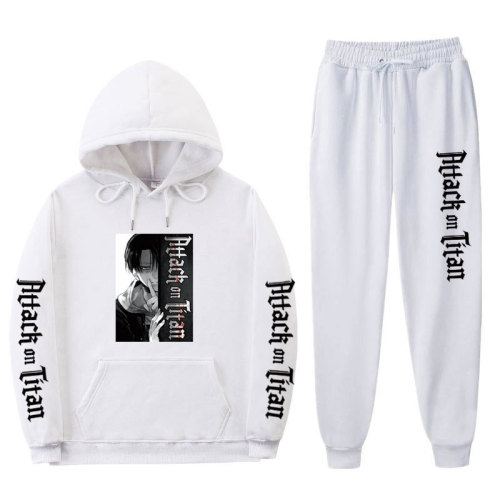 Anime Attack On Titan Fall Winter Sweatsuit Unisex Youth Casual Hoodie and Sweatpants 2 pieces Set