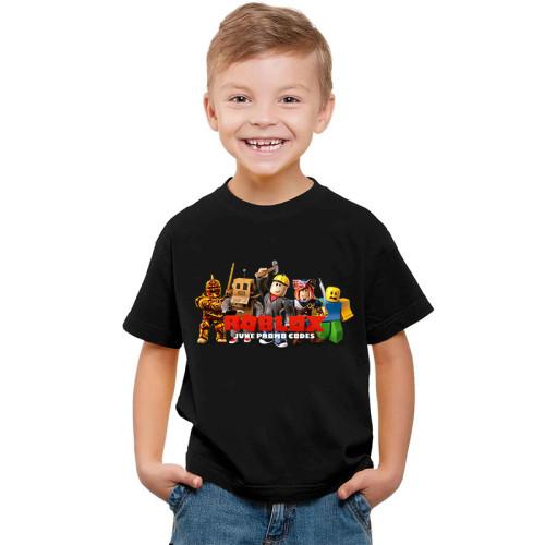 Roblox Kids Girls Boys Unisex Tee Shorts Sleeve Casual Black Cotton T-shirt