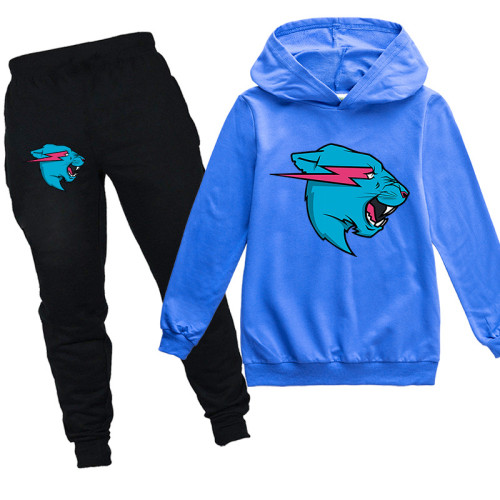 Roblox Tiger Print Sweatsuit Kids Unsiex Hoodie and Jogger Pants Set