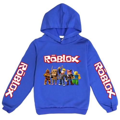 Roblox Kids Long Sleeve Hoodie Fall Hooded Sweatshirt Cotton Tops