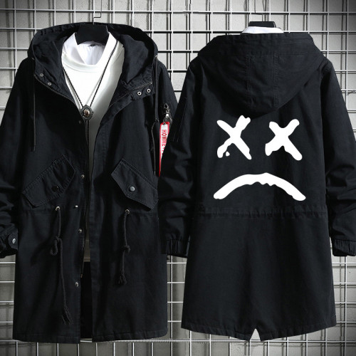 Lil Peep Cloak Fall Winter Cool Street Style Long Cloak Coat