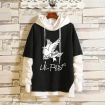 Lil Peep Hoodie Trendy Fake-two-piece Casual Oversize Hooded Sweatshirt Long Sleeve Hip Hop Street Outfit