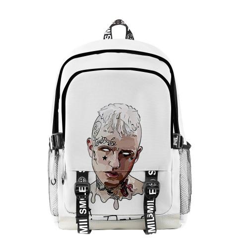 Lil Peep 3-D Color Backpack Teens Shcool Backpack Bookbag