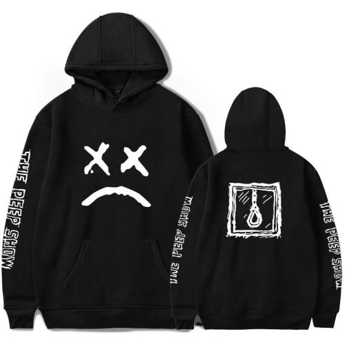 Lil Peep Hoodie Long Sleeve Hooded Sweatshirt Sad Face Print Hoodie Tops