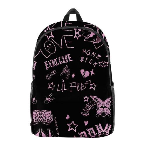 Lil Peep 3-D Backpack Youth Girls Boys School Backpack