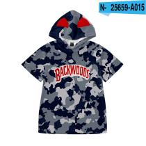 Backwoods Kids Fashion Short Sleeves Pullovers Sweatshirts Unisex Hoodie