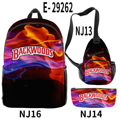 Backwoods Graffiti School Backpack Camera Bag and Pencil Bag 3 Piece Set