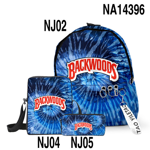 Backwoods Backpack 3 Pieces Set School Backpack Lunch Bag and Pencil Bag