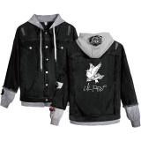 Lil Peep Denim Jacket Unisex Casual Street Style Jean Coat  Cry Baby Print Denim Jacket