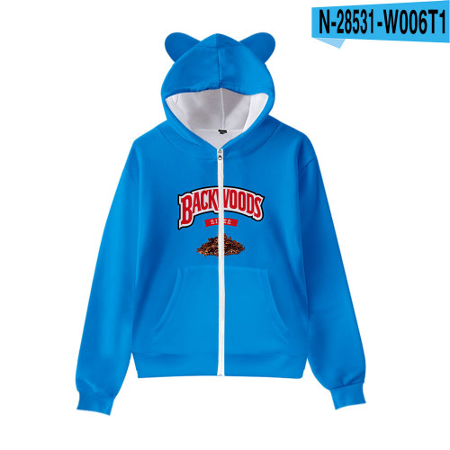 Backwoods Fashiong Hoodie Kids Girls Boys Cat Ear Hooded Trendy Sweatshirt