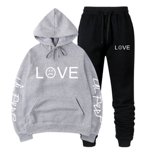 Lil Peep Fall Winter Sweatsuit Unisex Hoodie and Jogger Panst 2PCS Set