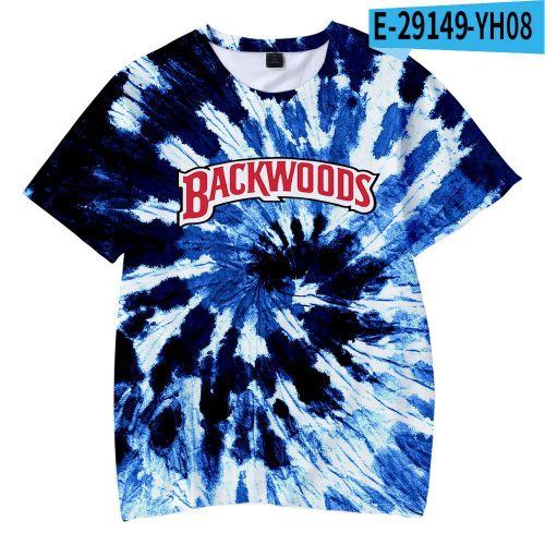 Backwoods Kids Fashion Short Sleeves Tie Dye Girls Boys T-shirt