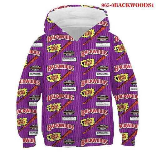 Backwoods Kids Trendy Long Sleeves Pullovers Sweatshirts Unisex Hoodie