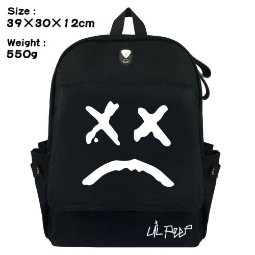 Lil Peep Canvas Backpack Travel Backpack Compuert Bag Youth Teen Shcool Backpack