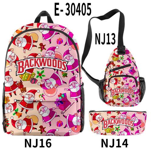 Backwoods Fashion School Backpack Camera Bag and Pencil Bag 3 Piece Set