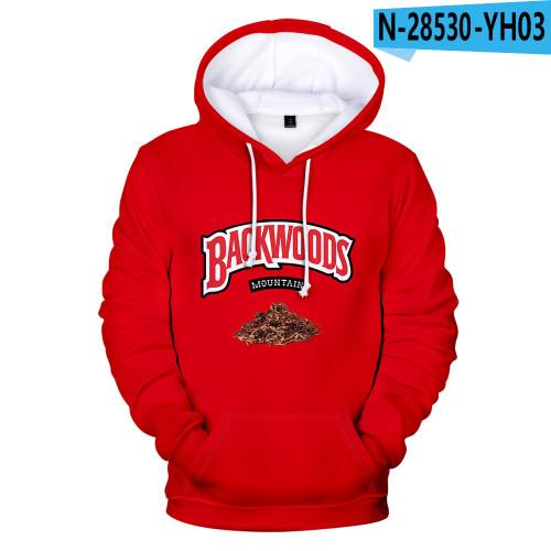 Backwoods Kids Fashion Print Hoodie Long Sleeves Trendy Unisex Hoodie
