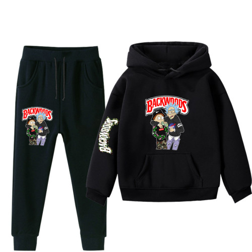 Backwoods Kids Popular Sweatsuit Sweatshirt and Sweatpants Grils Boys Suit