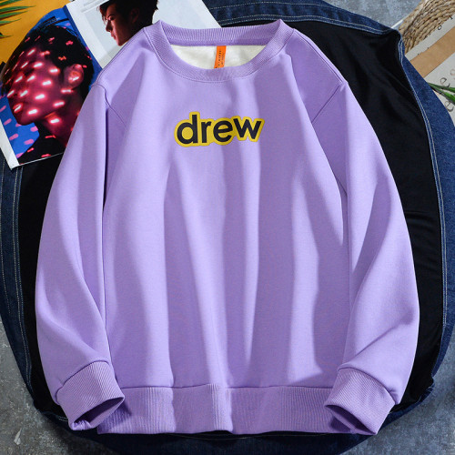 Drew Winter Hoodie Round Neck Sweatshirt Long Sleeves Casual Fit Trendy Tops for Adults Youth