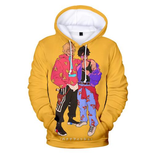 Anime Banana Fish Merch Unisex Youth Hoodie 3-D Trendy Hooded Long Sleeve Sweatshirt