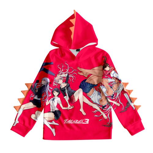 Danganronpa Kids Hoodie Girls Boys Long Sleeve Hooded Sweatshirt Casual Tops