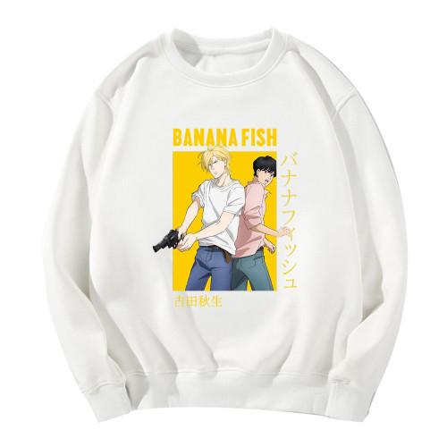 Anime Banana Fish Merch Crewneck Sweatshirt Long Sleeve Casual Fit Hoodie