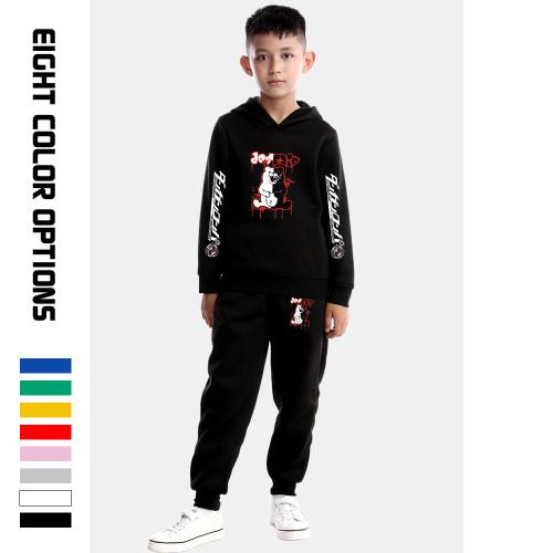 Danganronpa Kids Sweatsuits Girls Boys Long Sleeve Hoodie and Sweatpants Set