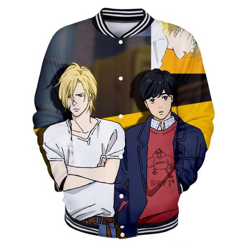 Anime Banana Fish Baseball Jacket Trendy Long Sleeve Coat