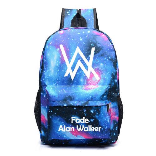 Alan Walker Backpack Unisex Shcool Backpack Bookbag Compuert Bag