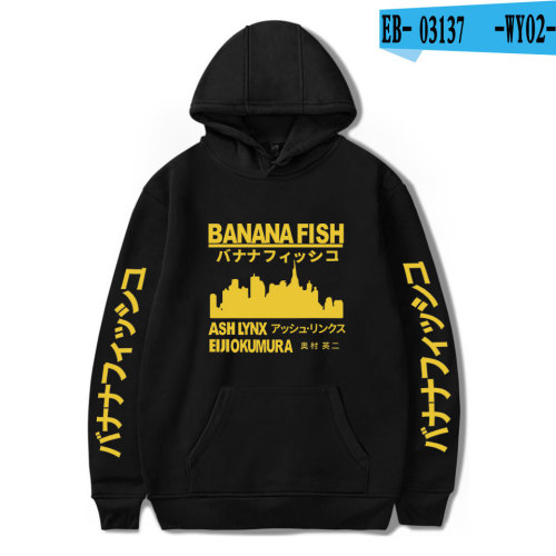 Anime Banana Fish Fans Merch Casual Long Sleeve Sweatshirt Hoodies
