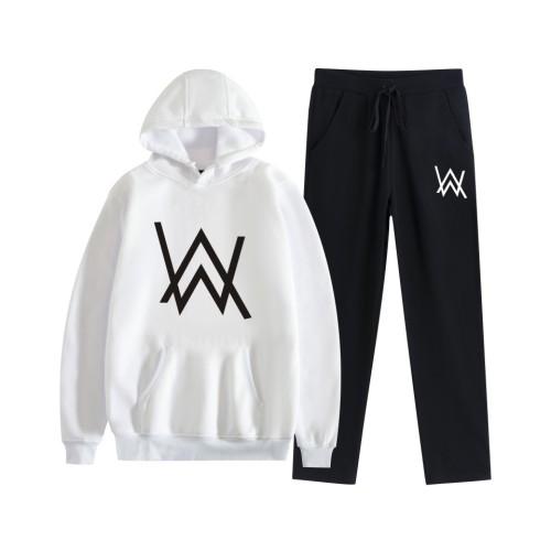 Alan Walker Teens Youth Sweatsuits Unisex Casual Hoodie and Sweatpants Set