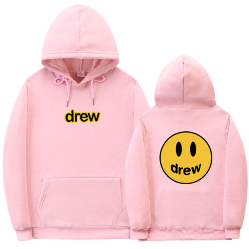 Drew Smile Face 3-D Print Unisex Pullover Hooded Sweatshirts for Adults Youth