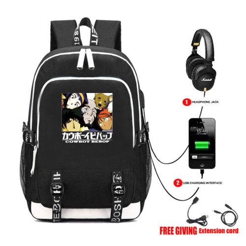 Cowboy Bebop Merch Stundenst Backpack Bookbag Computer Backpack With USB interface