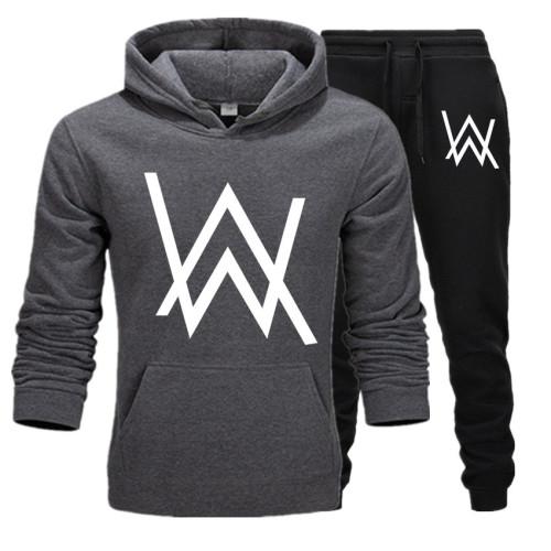 Alan Walker 2pcs Sweatsuit Long Sleeve Hoodie and Jogger Pants Set
