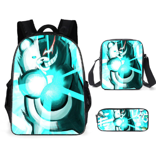Danganronpa Backpack Set Students School Backpack With lunch Bag and Pencil Bag Set