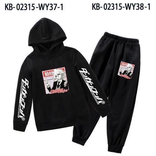 Danganronpa Sweatsuit Kids Girls Boys Hooded Sweatshirt and Jogger Pants Set