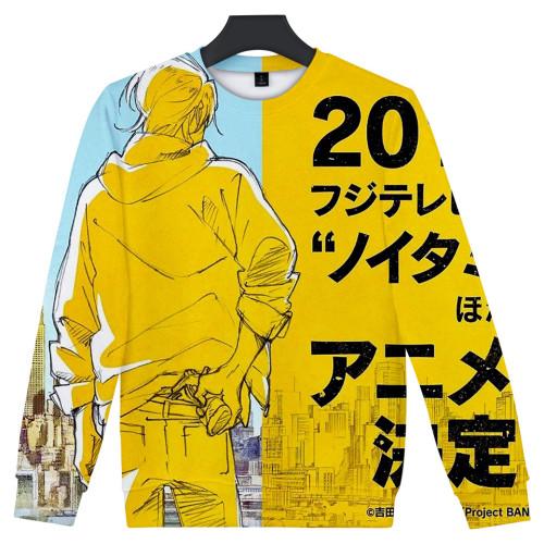 Anime Banana Fish Youth Teens Sweatshirt Long Sleeve Round Neck Pullover Casual Tops