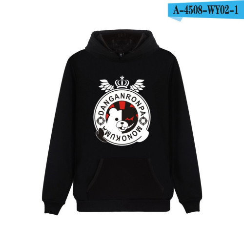 Danganronpa Youth Hoodie Casual Long Sleeve Fleece Sweatshirt Hooded Pullover Tops