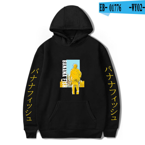 Anime Banana Fish Hoodie Unisex Hooded Sweatshirt Long Sleeve Youth Teens Casual Tops