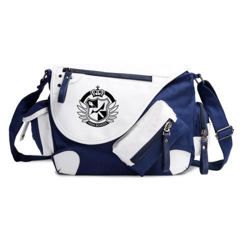 Danganronpa PU Cross Body Bag Unisex Cool Shoulder Bag Messenger Bag