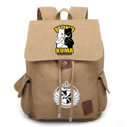 Danganronpa Canvas Backpack Stundents School Backpack Bookbag For Girls Boys