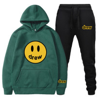2021 New Trendy Drew Smile Face Hoodie And Sweatpants Set Unisex Sweatsuits