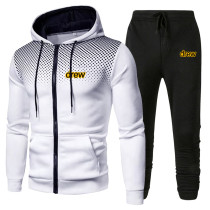Drew Trendy Zipper Coat and Jogger Pants Unisex 2 Pieces Set